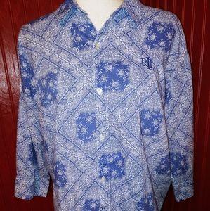 Ralph Lauren Button Floral Shirt L